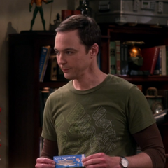 Sheldon offering his extra aquarium buffet ticket.