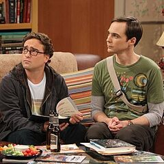 Sheldon and Leonard at their apartment.