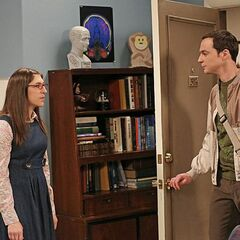 Sheldon forget to kiss Amy good night.