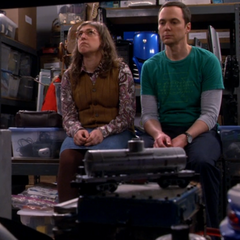 Shamy thinking about Sheldon's pack rat complex.