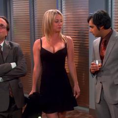 Raj admiring Penny's cleavage.