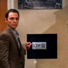 Sheldon has a safe.