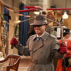 Leonard as Inspector Gadget.