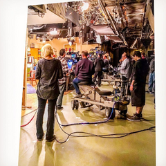 Behind the scenes of this episode.