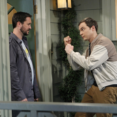 Sheldon threatened to beat up Wil Wheaton unless he apologizes to Amy.