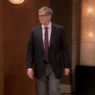 Bill Gates in the lobby.