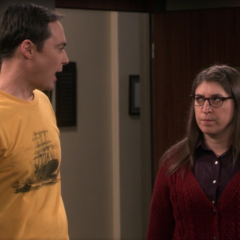 Mad at Sheldon for having her removed.