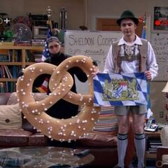 Sheldon and Amy are doing a show as Bavarians.