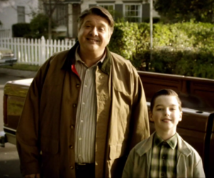 Young Sheldon and dad