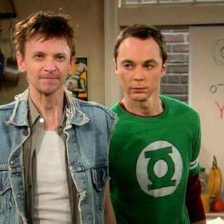 Sheldon and his fake cousin.