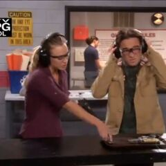 Leonard and Penny at the shooting range.