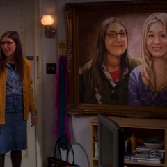 Amy and the painting version of her.