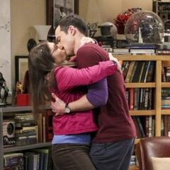 Sheldon and Amy don't want to say goodbye.