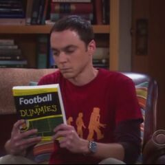 Sheldon knows football.