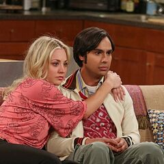 Raj realizes he's talking to Penny.