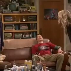 Slapping Sheldon.