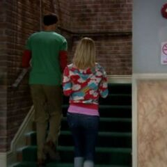 Typical walking up the stairs scene.
