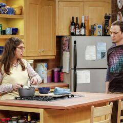 Making Sheldon plain oatmeal.