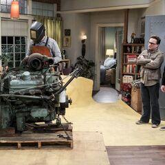 Sheldon is engine crazy.