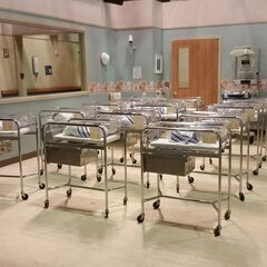 On set hospital nursery.