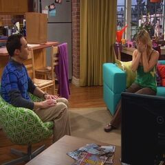 Sheldon talking to Penny about Leonard.