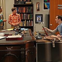 The guys in Sheldon and Raj's office.