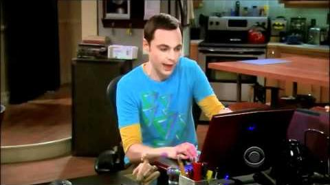 The Big Bang Theory S04E18 - All Magical Cards Scenes - All in One
