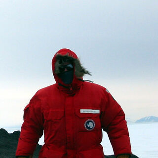 Dr. Saltzberg working on the ANITA project in Antarctica.