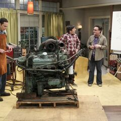 Sheldon gung ho for engines.