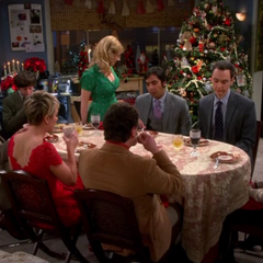 Everyone at Amy's for Christmas dinner.