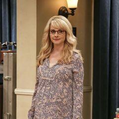 Pregnant Bernadette.