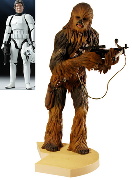Han Solo in Stormtrooper Disguise and Kotobukiya Chewbacca Pre-Painted Soft Vinyl Model Kit