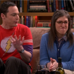 Sheldon embarrassing Amy.