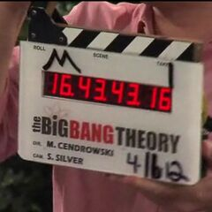 The clapperboard used in the episode.