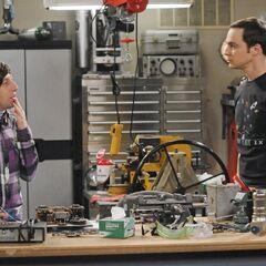 Sheldon asking Howard to meet hawking.