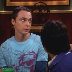 Sheldon and Penny at work.