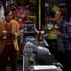 Raj bonding with Stuart.