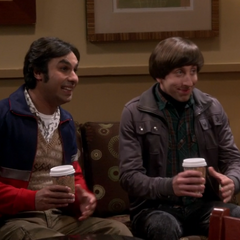 Howard and Raj at the coffee shop.