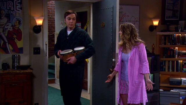 File:The Werewolf Transformation Sheldon leaving with his bongos.jpg