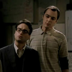 Leonard and Sheldon in the unaired pilot.