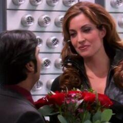 Raj presents Siri flowers