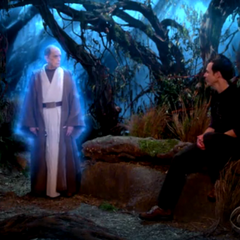 Arthur visiting Sheldon on Dagobah.