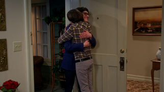 Howart hugging Josh,admiting that he is really his brother