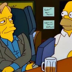 Stephen Hawking and Homer Simpson share a beer on <i>The Simpsons</i>