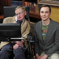 Stephen Hawking and Jim Parsons.  sc 1 st  The Big Bang Theory Wiki - Fandom : stephen hawking halloween costume  - Germanpascual.Com