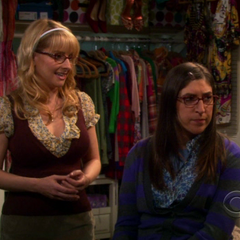 Amy and Bernadette telling Penny she should do something nice for other people.