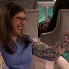Amy laughing at Sheldon's joke per the RA.