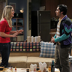 Penny with Raj discussing their night together.