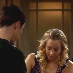 Penny borrowing money from Sheldon.