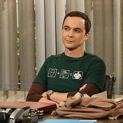 Sheldon in his office.
